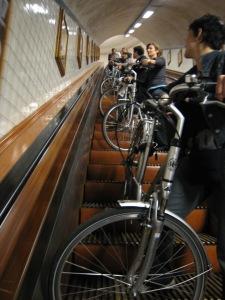 fiets in tunnel